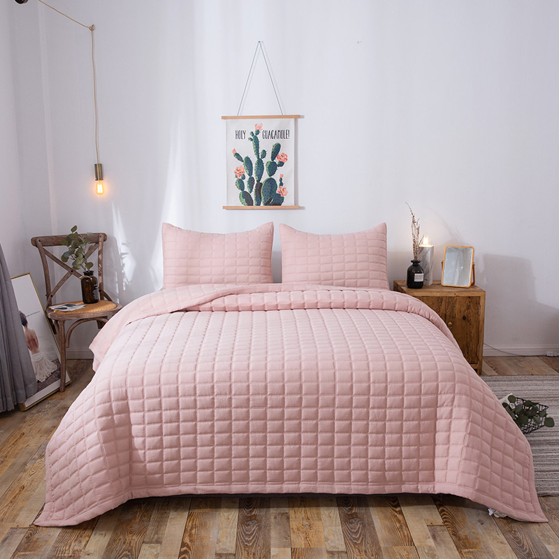 pink enzyme washed quilt