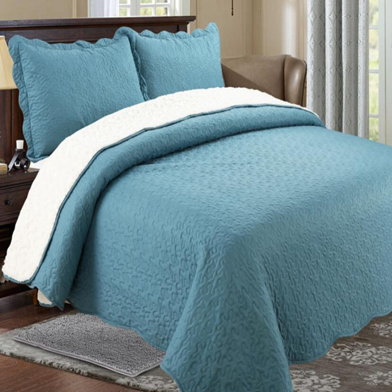 vermicelli quilted solid bedspread sherpa quilts