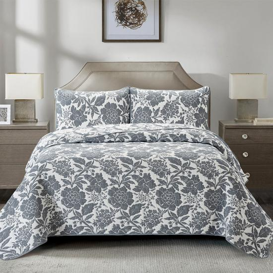 Poly-cotton Jacquard quilted bedspreads