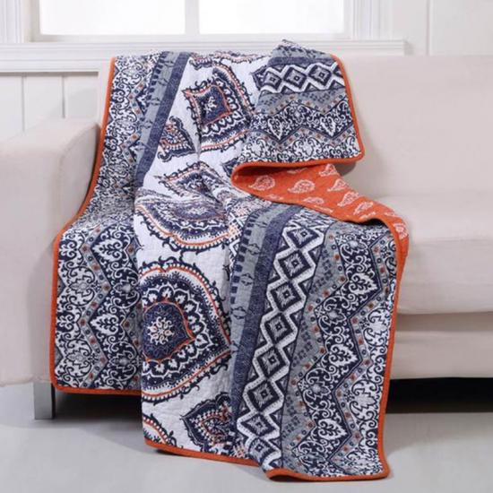 Reversible Costal Quilted Blankets Soft and Warm