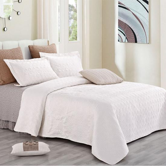 satin bedspread with pillow shams
