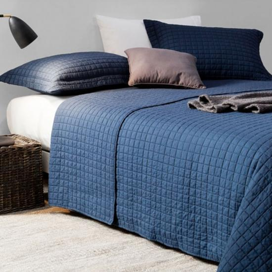 Washed Basketweave 3 piece Quilt Set