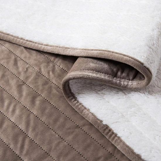 sherpa quilted bedding set
